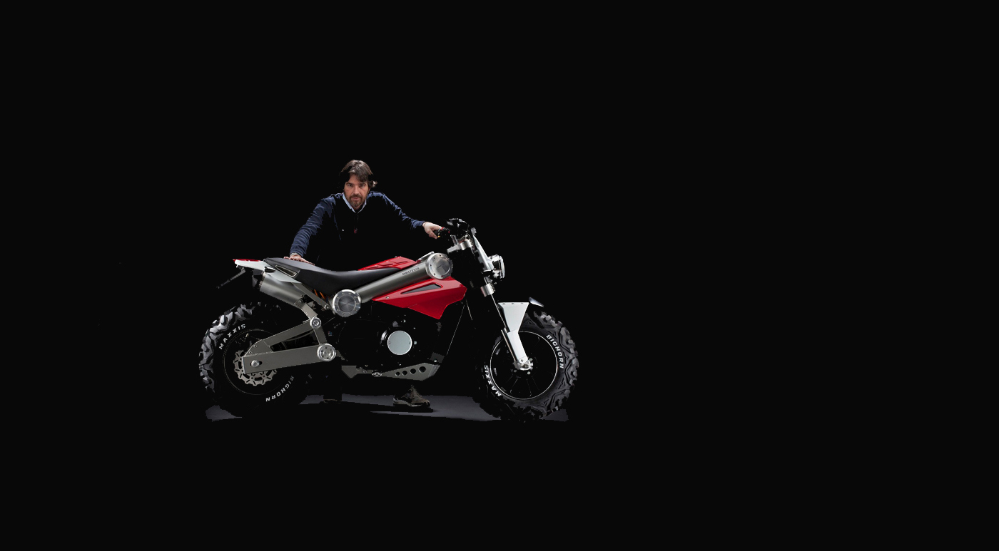 Alessandro Tartarini design made in Italy Brutus electric motorcycle